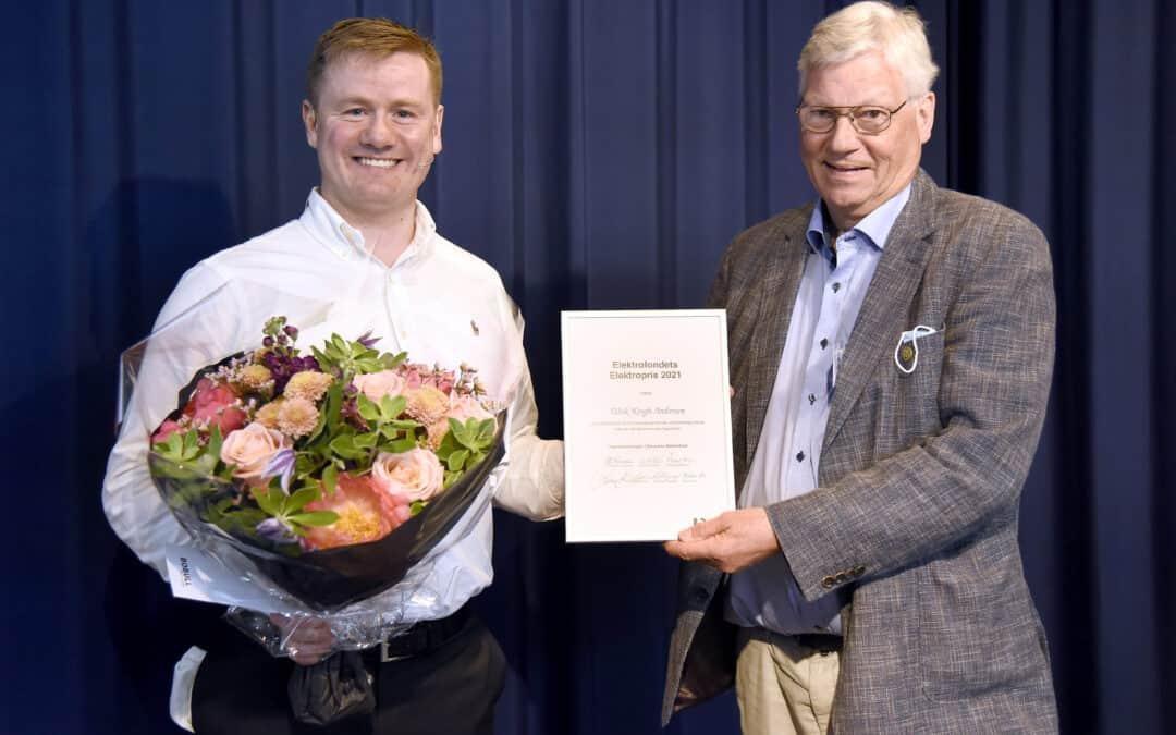 Ulrik Krogh Andersen, CEO of °MEQU, Wins Elektroprisen Awarded by The Danish Society of Engineers (IDA)